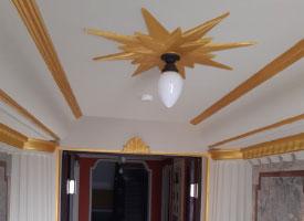 Wand- und Deckengestaltung in der Görner Villa in Thalheim