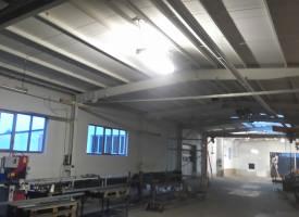 Malerarbeiten in einer Industriehalle - nachher